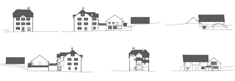Architekturvermessung fassaden mfh in azmoos sg 2014