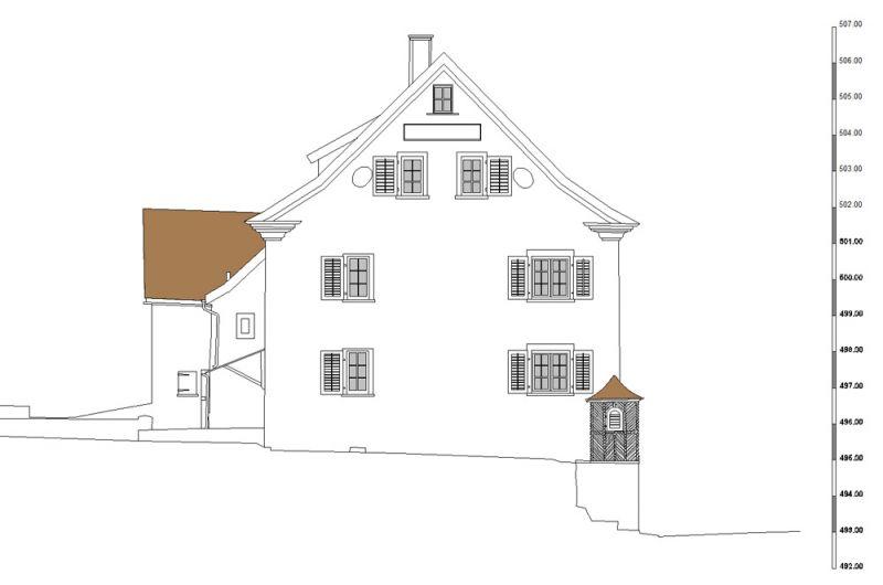 Architekturvermessung herrenhaus in plons mels sg 2013