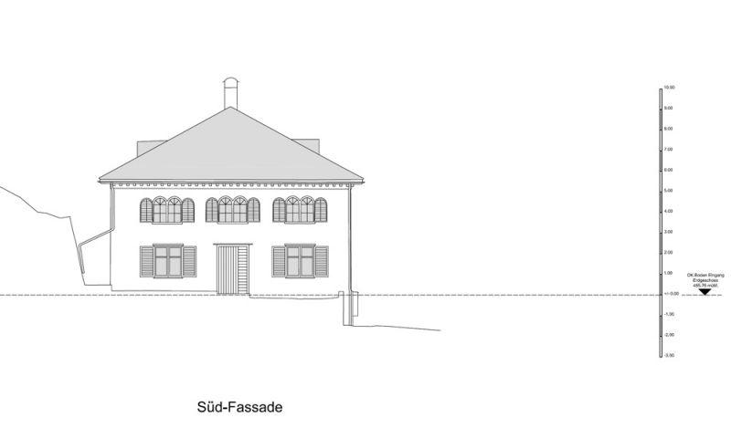 Architekturvermessung alte säge in oberschan wartau sg 2013